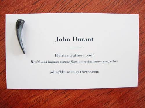 Business cards hunter gatherer hunter gatherer yes each one has a different fossilized sharks tooth glued to it every month or so its arts and crafts night in my apartment and i make a new batch reheart Images